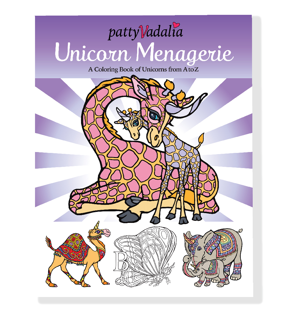 unicorn menagerie coloring book of unicorns from a-z