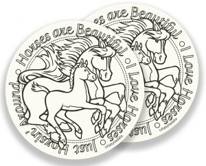 horse and foal coasters