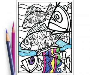 printable fish coloring page