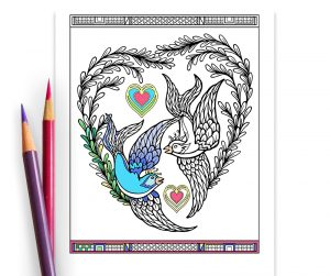 printable blue willow coloring page